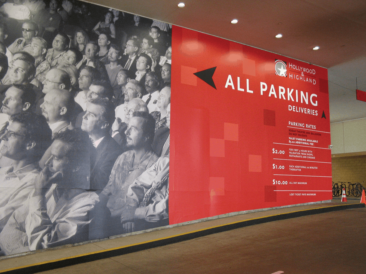 Hollywood and Highland had this wall mural designed for their parking garage.