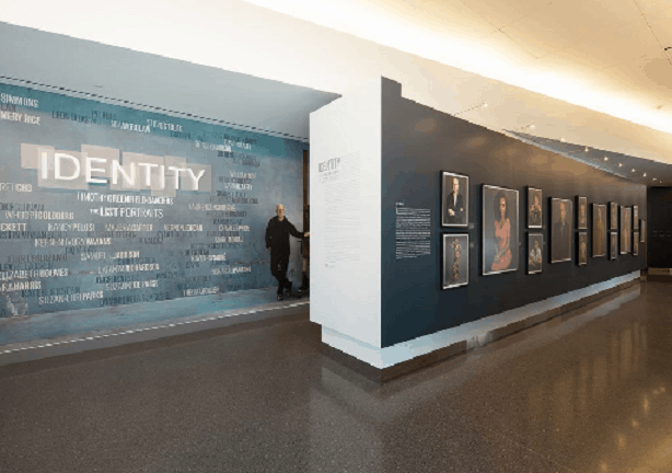 This identify mural was done by Platon Graphics and put on a wall