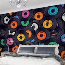 Canvas wallpaper can offer a soft look and feel to any room in your home.