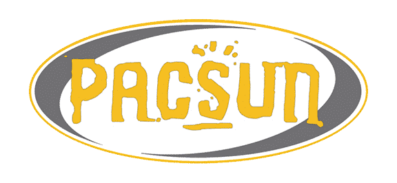 PacSun logo - PacSun has started having their graphics done by Platon Graphics