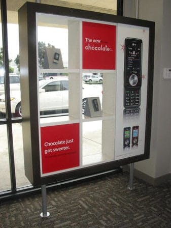 Show off the newest cellphone on the market with signage