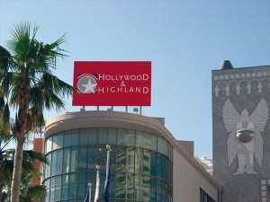"""BIG BOLD BILLBOARDS! What a great way to keep your brand in front of your customers. Hollywood and Highland retained Platon to create an """"eye-popping"""" visual solution for their signage."""