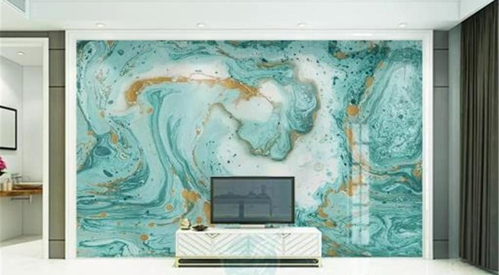 Abstract Wallpaper color art in a TV Room