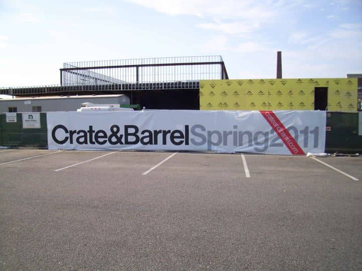 Crate and Barrel got a great price when they hired Platon Graphics to create their spring 2011 banner