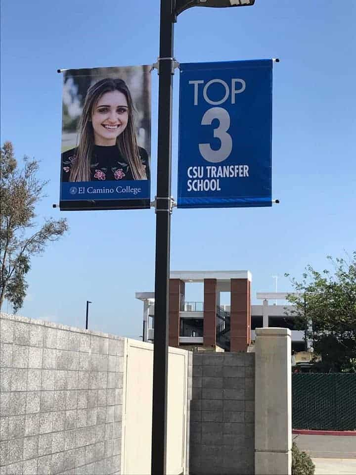 CSU hired Platon Graphics to put up vinyl banners at their school