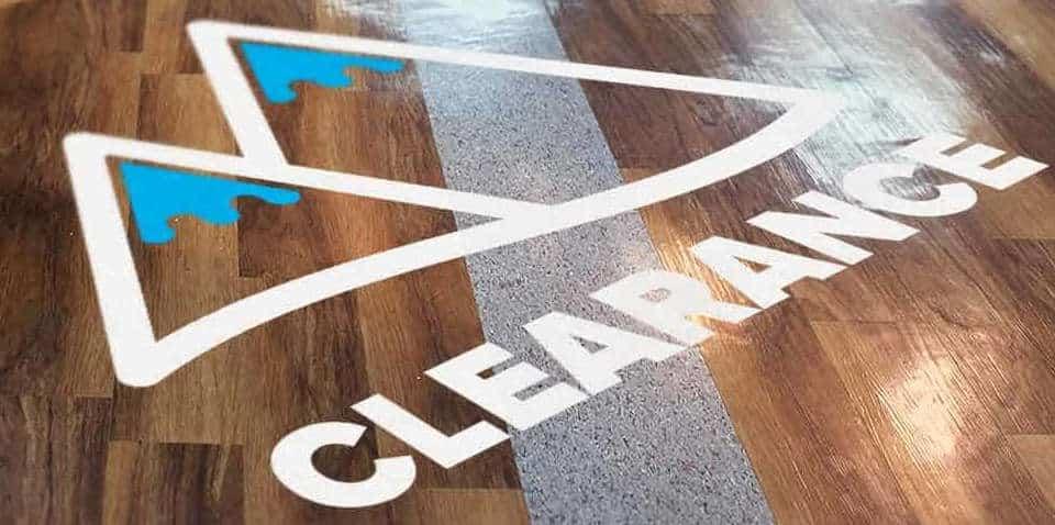 Clearance floor sticker