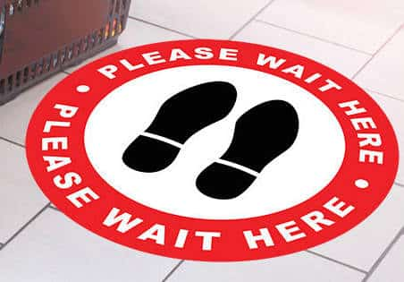 Please Wait Here Decal